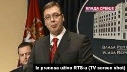 Serbian Prime Minister Aleksandar Vucic in Belgrade on July 7