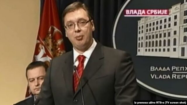 Serbian Prime Minister Aleksandar Vucic in Belgrade on July 7