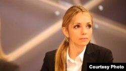 Евгения Тимошенко в студии РС. Фото Кристины Дзмурановой.