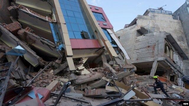 خرابیهای ناشی از زمینلرزه تازه در کاتماندو