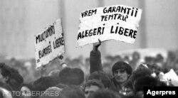 Protestele din Piața Universității, aprilie 1990