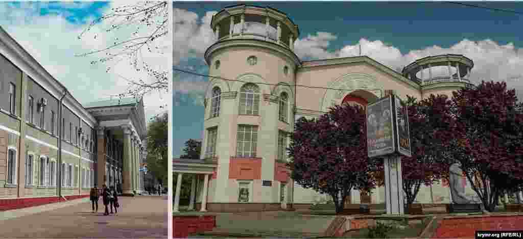 Площа біля головного входу в кримський медичний університет практично не змінилася. Майже нічого не змінилося і у кінотеатру «Сімферополь» на площі Совєтській