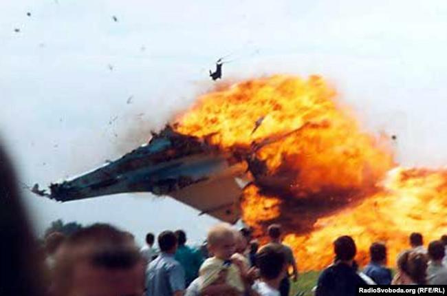 Момент падіння Су-27