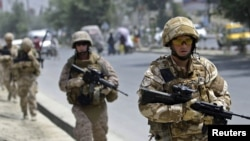 Британские солдаты патрулируют Кабул. Иллюстративное фото.