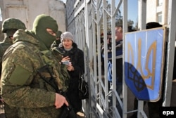 Российские военные в Крыму, март 2014 года