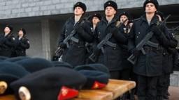 Призыв в российскую армию в Севастополе. Декабрь 2017 года