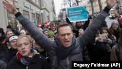 Ռուսաստան - Ալեքսեյ Նավալնիի հրավիրած բողոքի ակցիան Մոսկվայում, 28-ը հունվարի 2018թ.
