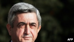 Opposition critics say President Serzh Sarkisian's party rigged the ballot in his election last year.