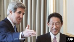 State John Kerry və Fumio Kishida