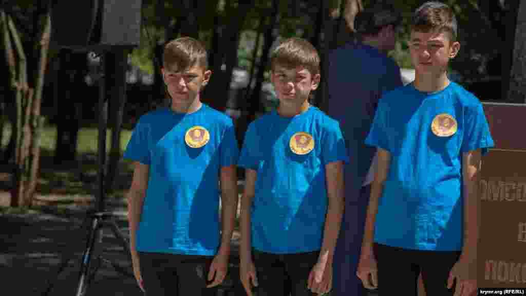 Окрім прихильників КПРФ, у мітингу взяли участь діти