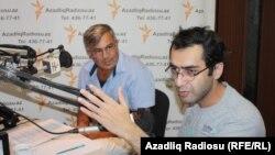 Soldan sağa: Həmid Herisçi və Əli Novruzov