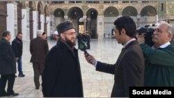 Татарстан мөфтие Сүрия телеканалы хәбәрчесе сорауларына җавап бирә