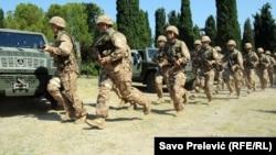 Vježbe crnogorske vojske