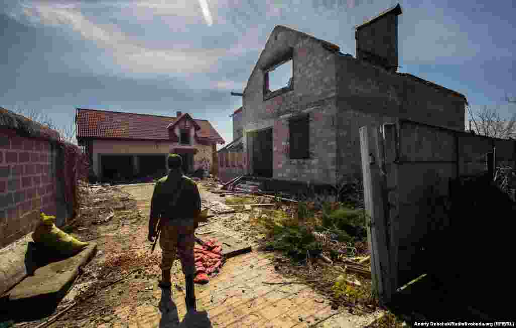 About half of the houses in Vodyane, a holiday village 12 kms from the Black Sea port Mariupol, have been destroyed or damaged beyond repair in fighting between Russia-backed separatists and the Ukrainian military.
