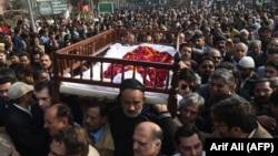 مراسم تشییع جنازه عاصمه جهانگیر در اسلامآباد پاکستان