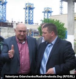Голова правління «Рівнеазот» Михайло Заблуда і голова Рівненської ОДА Сергій Рибачок