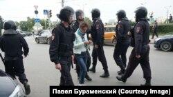 Задержание Ольги Картавцевой
