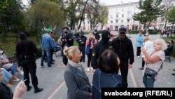 АМАП не дае гамельчукам сабрацца ў цэнтры гораду, 11 красавіка
