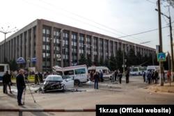 Місце аварії у Кривому Розі, 17 квітня 2018 року