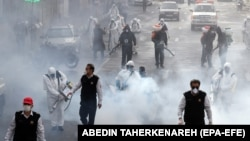 Acțiuni de dezinfecție la Teheran