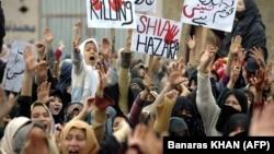 Пакистан: хазарилердин нааразылык акциясы, 18.02.2013
