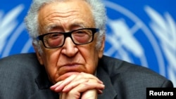 UN-Arab League envoy for Syria Lakhdar Brahimi said security problems were delaying the evacuation of women and children from the city of Homs.