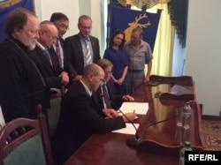 Підписання меморандуму у місті Самбір. Вересень 2016 року