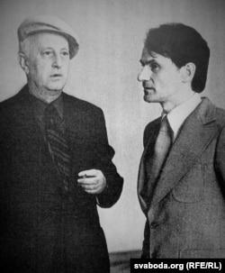 Рыгор Бярозкін з кампазытарам Ігарам Лучанком