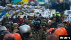 В центре Киева 29 января 2014 года