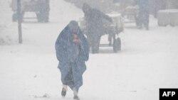 Снежните наноси во Авганистан