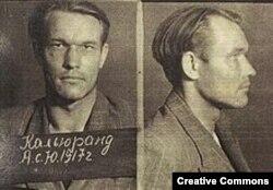 """Антс Кальюранд, один из командиров эстонских """"лесных братьев"""" (фото сделано в МГБ после ареста)"""