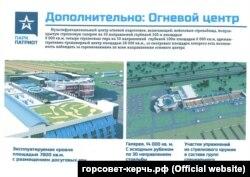 Проект парку «Патріот» на сайті підконтрольної Росії міськради Керчі