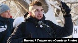 активист из Барнаула Николай Умеренков