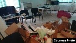 Централния офис на Навални в Челябинск след претърсването
