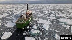 یخچالهای آب شده در اثر تغییرات اقلیمی در انترکتیکا