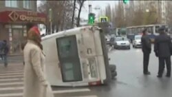 Уфада балалар утырткан микроавтобус юл казасына очрады