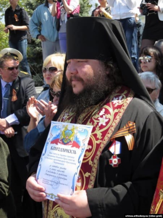Каліник (Чернишов), архімандрит УПЦ (МП). Євпаторія, 3 травня 2014 року