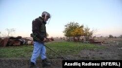 Ağdam şəhəri minalardan təmizlənir, 24 noyabr 2020