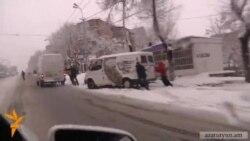 Yerevan yolları bugünlər belə vəziyyətdədir