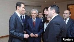 Հայաստանի Ազգային ժողովի պատգամավորները Սիրիայի նախագահ Բաշար ալ-Ասադի հետ հանդիպման ժամանակ, Դամասկոս, 27-ը մարտի, 2014թ․