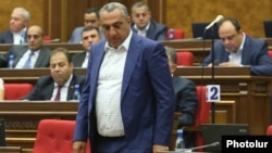 Armenia -- Businessman Samvel Aleksanian attends a parliament session in Yerevan, September 10, 2018.