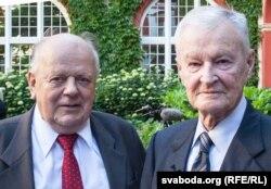 Станислав Шушкевич и бывший советник президента США Збигнев Бжезинский, 2017 год