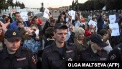Протесты в Петербурге против избрания губернатором Беглова