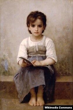Адольф-Вільям Бугро, «Цяжкі ўрок» (1884)
