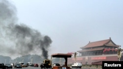 Beijing Blames Separatists For Tiananmen Attack at Tiananmen Square in Beijing on October 28.