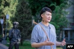 Kazakh activist Asya Tulesova
