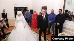 Pamje e një dasme në Çeçeni