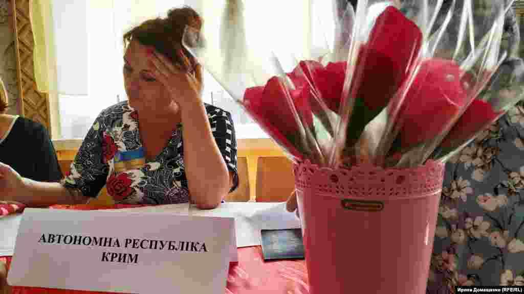 На избирательном участке в Каланчаке ждут крымчан. Крымчанам, приехавшим голосовать на выборах в Верховную Раду, дарят сладкие сувениры