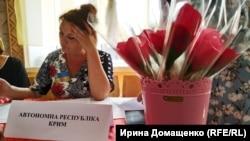 Сувеніри для кримчан на виборчій дільниці в Каланчаку