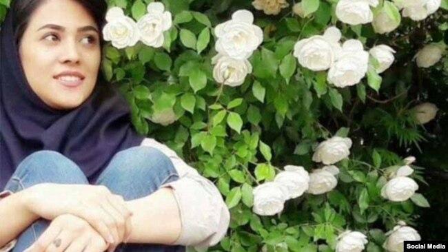 Roya Saghiri, 24, a student of Tabriz University.
